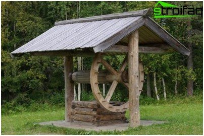 well with wooden roof