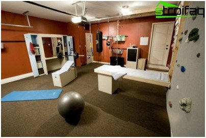 Option home gym design