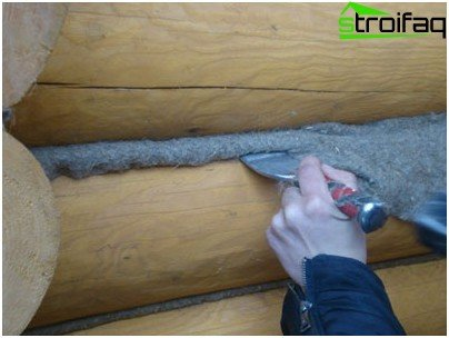 Clogging of insulation in the gap