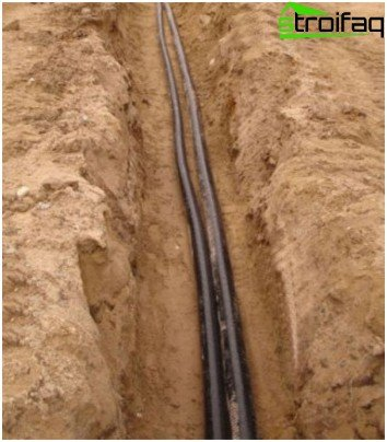 How to run a cable in the trench