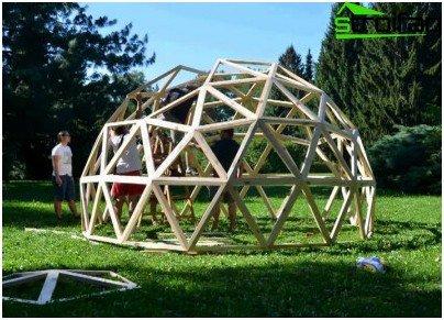 wie zu berechnen und eine geod tische kuppel bauen. Black Bedroom Furniture Sets. Home Design Ideas