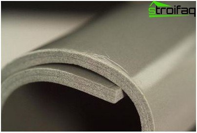 Noise thermal insulation material for roof metallocherepichnoy