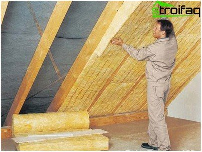 Installation of the roof sound insulation
