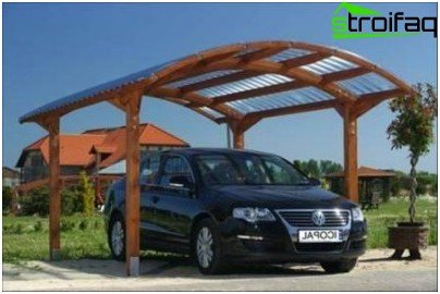 The size and height of the shelter & How to make a carport with their hands - options canopies made of ...