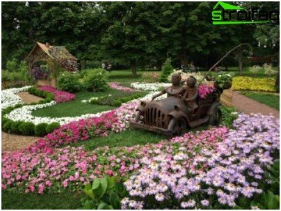 regular flower garden