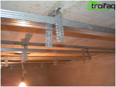 How to make a false ceiling with his hands