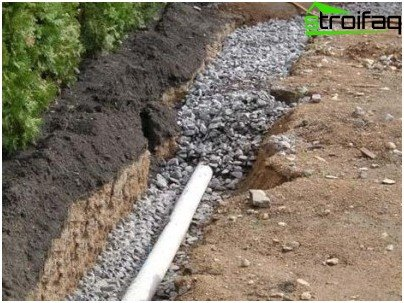 Gravel filling pipe