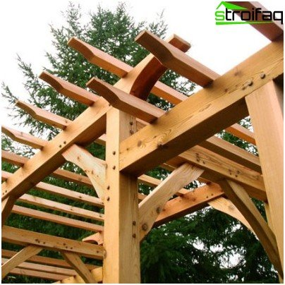 pergola with their hands