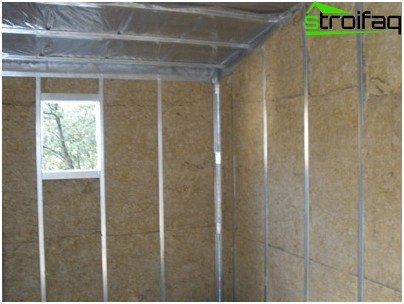 Thermal insulation using mineral wool