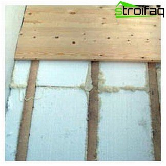 Thermal insulation foam floor