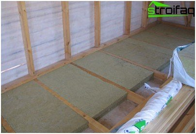 Floor Insulation of mineral wool