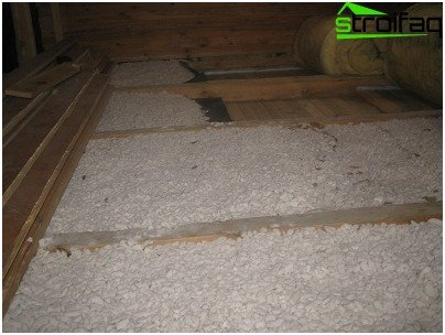 Warming of the floor expanded polystyrene