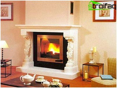 Indoor fireplace bricks
