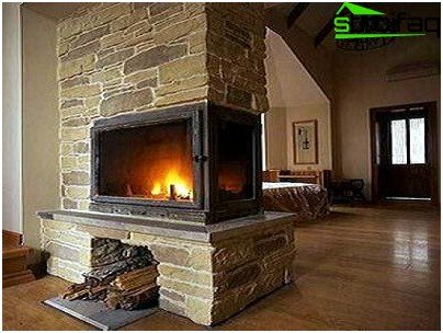 Fireplace brick