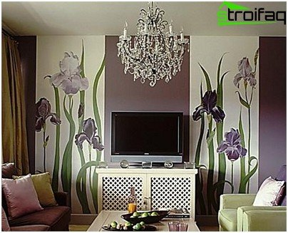 Vertical stripes wallpaper coating