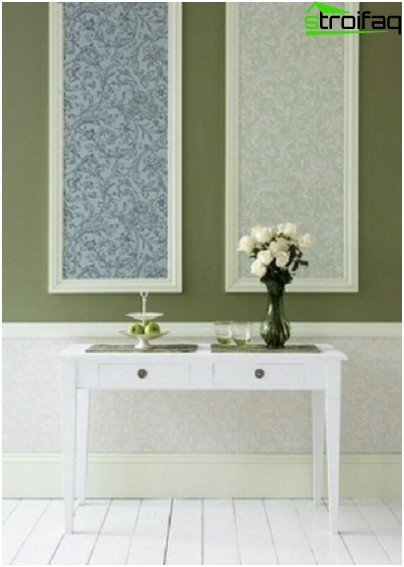 Rectangular insertion of wallpaper