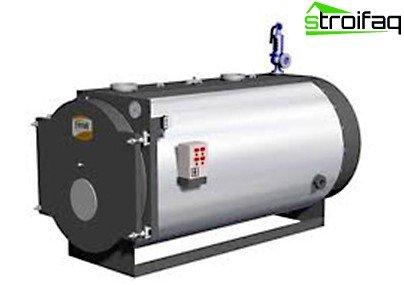 Boiler on liquid fuel
