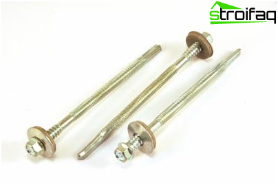 Screws for sandwich panels