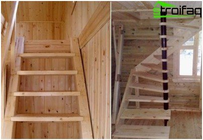 Stairs to the attic of the lumber
