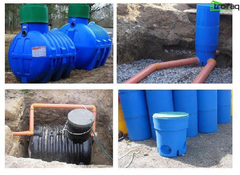 Plastic septic tank
