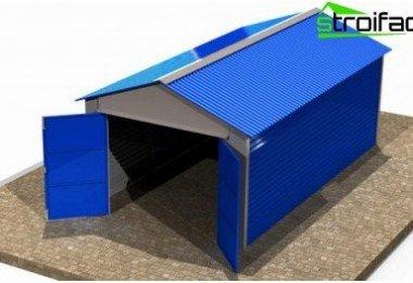 Il meglio coprire il tetto del garage su materiali for Garage in metallo con planimetrie abitative