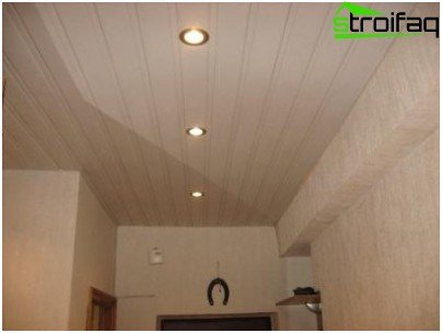 Closed type of suspended ceilings