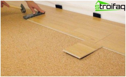 You can lay laminate linoleum
