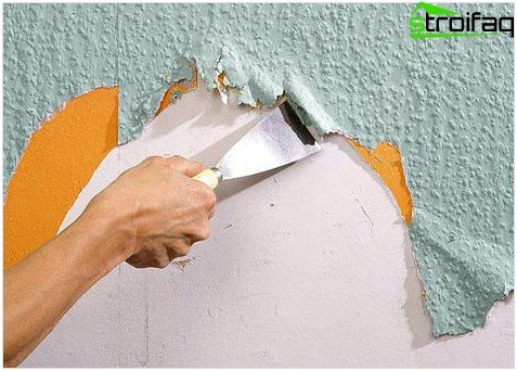 Removing old wallpaper with the help of a tool