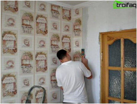 Wallpapering the prepared surface