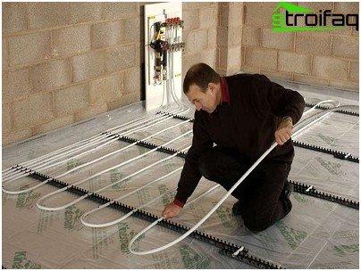 Laying of polypropylene pipes
