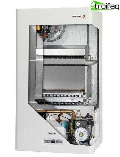 Driving a bypass gas boiler