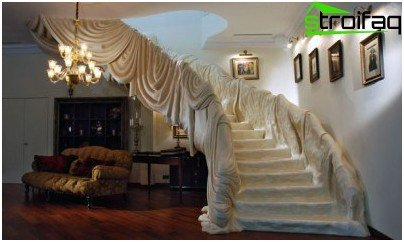 Draped staircase