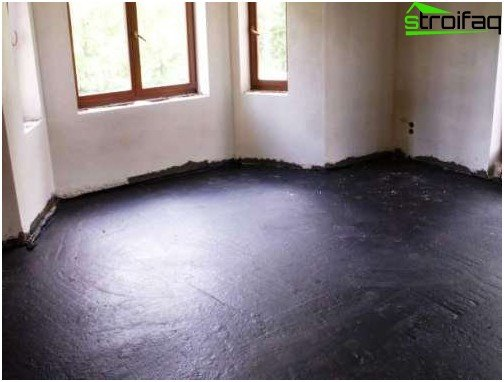 Mastic for waterproofing floor