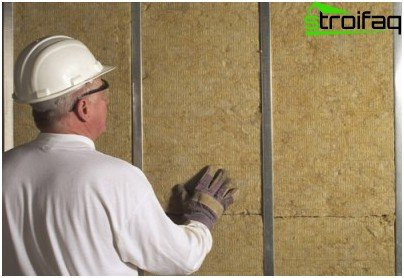 Wall insulation with mineral wool