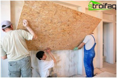 Installation of insulation fiberboard