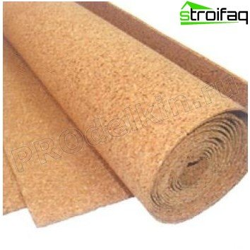 Cork insulation for walls