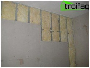 Plasterboard wall cladding