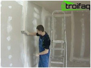 Filling the seams between sheets of drywall