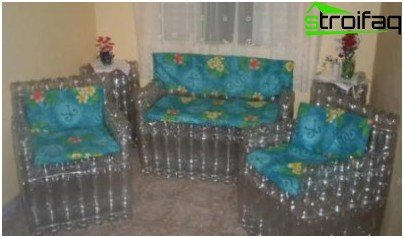 Furniture made of bottles