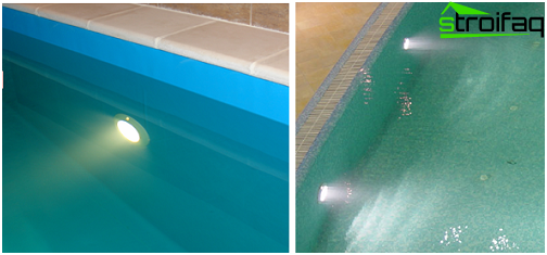 Recessed luminaire for underwater pool