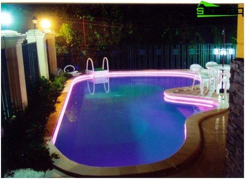 Option pool lighting using fiber optics