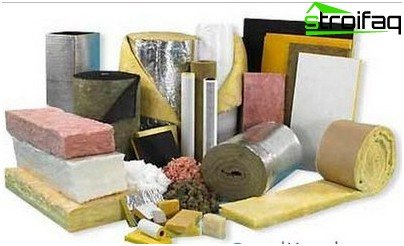 Insulation materials for roof bath