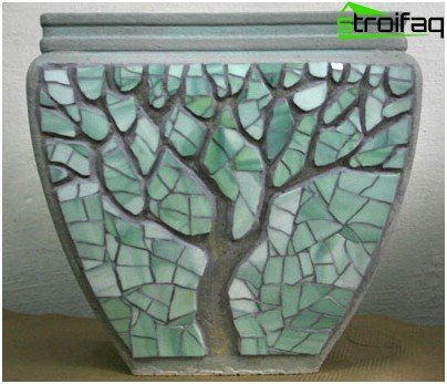 Decor pot mosaic