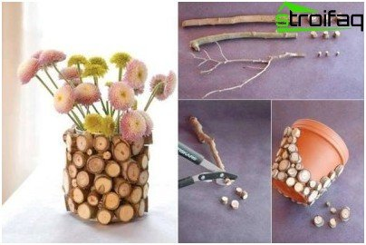 decoration pot stick