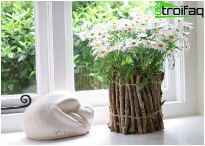 Twigs for decoration pot