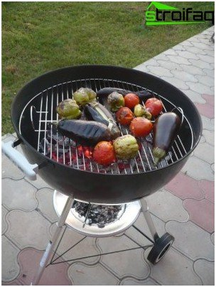 Charcoal barbecue oven