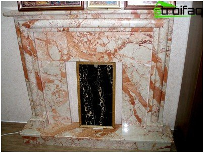 Fireplace in marble