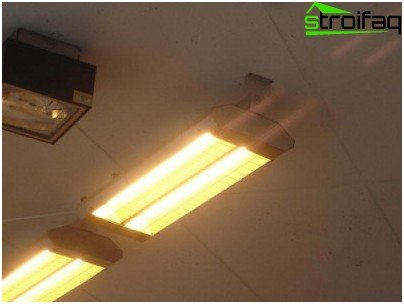 Infrared heater for garage