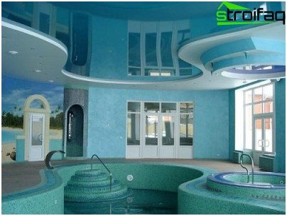 Stretch ceiling waterproof, durable, aesthetic