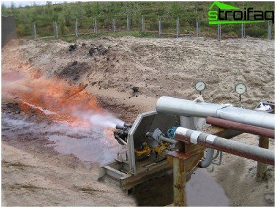 Incineration of waste water by means of flare